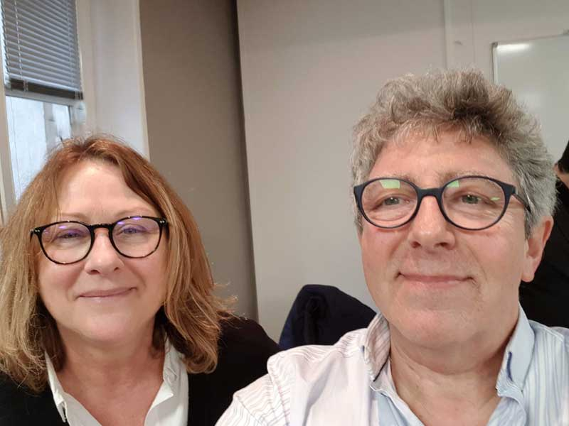 Dr Isabelle NICKLES et Laurent GROSS au cours de l'AG de la CFHTB