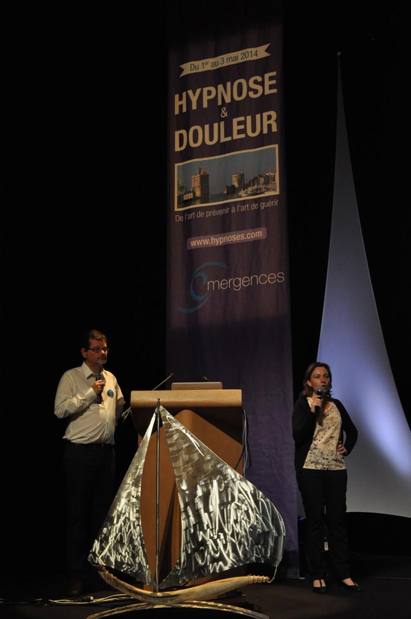 Congrès Hypnose & Douleur, Drs Servillat Thierry, Stimec Isabelle et Nicole Ruysschaert